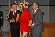 Presentation of the Certificate for International Goodwill Ambassador of Fukushima Prefecture by the Governor